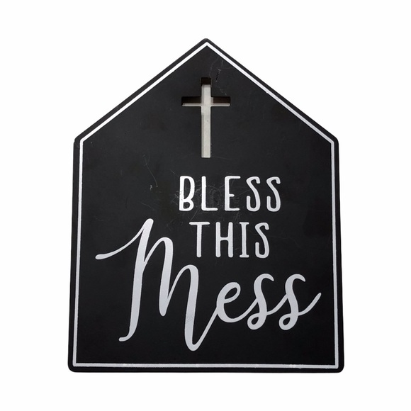 NWT Bless This Mess Metal Sign